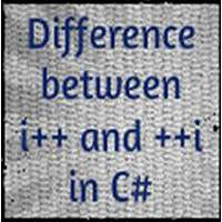 What is the difference between i++ and ++i in C#