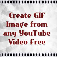 Create GIF (Animated) Image from any YouTube Video free