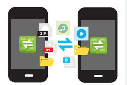 Transfer large files between androids at high speed using