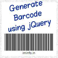 How to generate barcode using jQuery (ean8, ean13, code11, code39, code128, codabar and more)