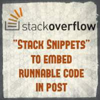 Now you can add runnable code snippets on stackoverflow. Supports JavaScript,CSS and HTML