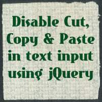 How to disable copy paste in textbox using jQuery