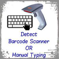 Detect input is from barcode scanner or manual typing using jQuery JavaScript