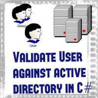 How to validate user against active directory in C#