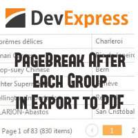 How to add Page break after each group in DevExpress Grid Export