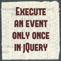How to call click or any event only once in jQuery