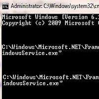 Install windows service without visual studio command prompt
