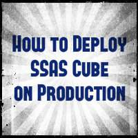 How to deploy SSAS cube to production server