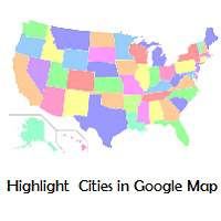 Highlight multiple cities in google maps (Geo Chart)