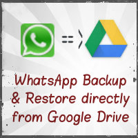 WhatsApp update - Now you can backup and restore from Google Drive