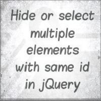 Hide Multiple elements with same id using Attribute Equals Selector in jQuery