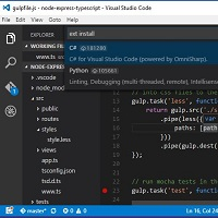 Visual Studio Code - Lighweight but powerful source code editor available for Windows, OS X and Linux