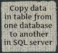 Copy changed data in table from one database to another in SQL stored procedure